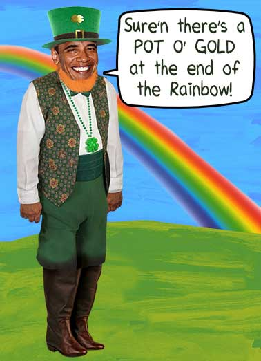Pot O Gold Funny St. Patrick's Day Card